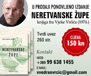 Knjiga fra Vjeke Vrčića 'Neretvanske župe'
