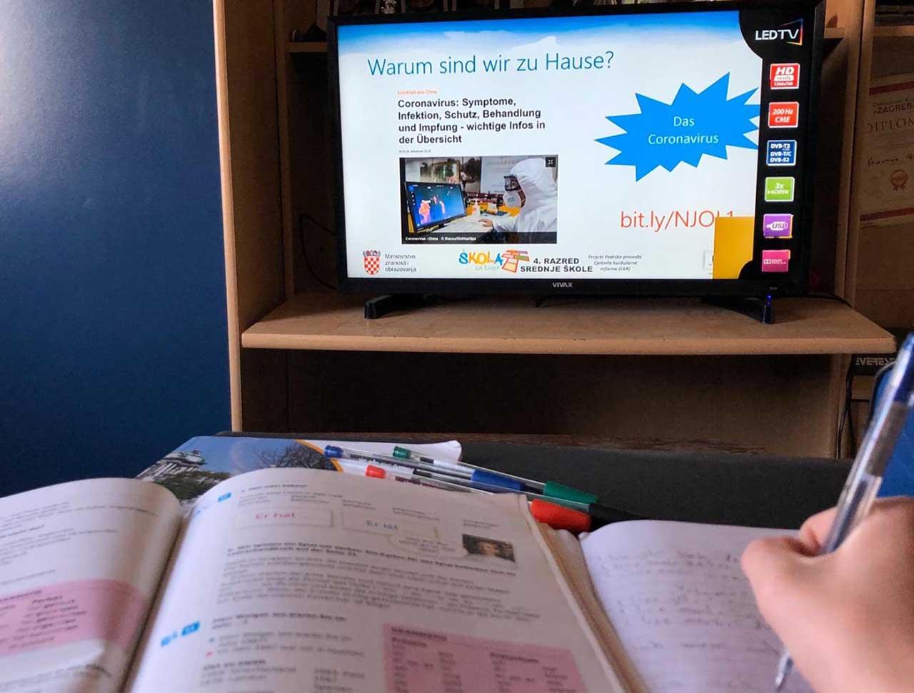 online nastava, učenje ekran